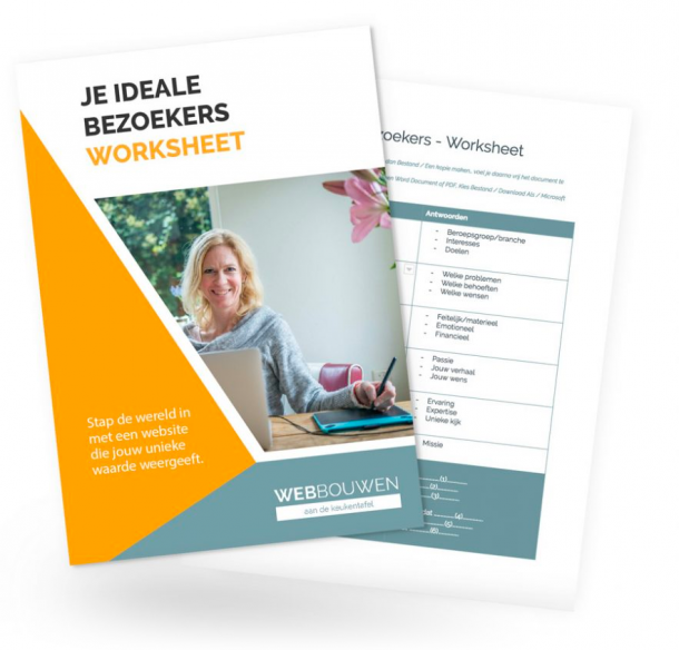 gratis worksheet, bezoekers website, stappen website, beginnen aan je website, eerste stap website